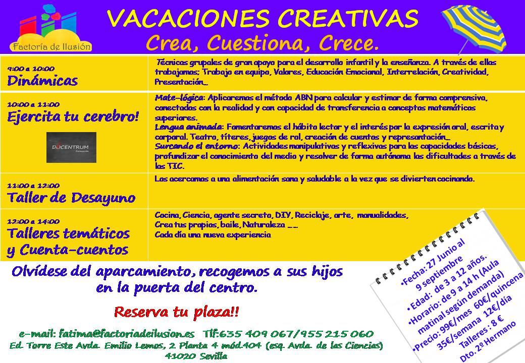 Publicidad Vacaciones Creativas Sevilla